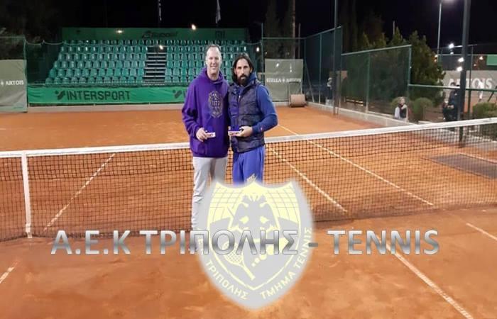 1η Θέση για Ζωγραφάκη του ομίλου τένις της ΑΕΚ Τρίπολης στο Intersport 2018
