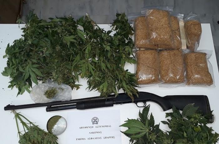 Συνελήφθη 67χρονος για ναρκωτικά στη Λακωνία