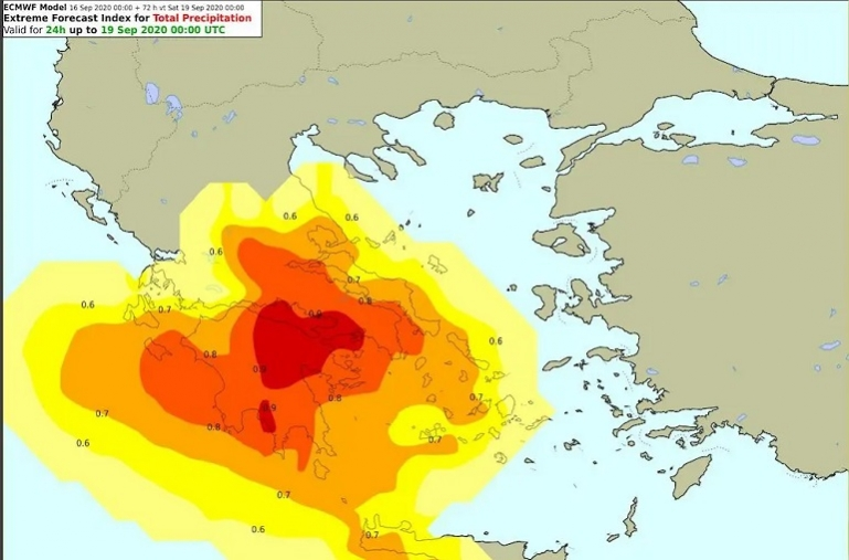 Προειδοποίηση για έντονα καιρικά φαινόμενα σε περιοχές της Περιφέρειας Πελοποννήσου