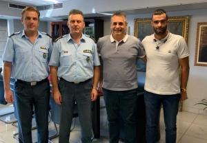 Συνάντηση Τζιούμη με τον Αστυνομικό διευθυντή Αρκαδίας και τους διοικητές του αστυνομικού τμήματος Τρίπολης και του τμήματος Ασφαλείας