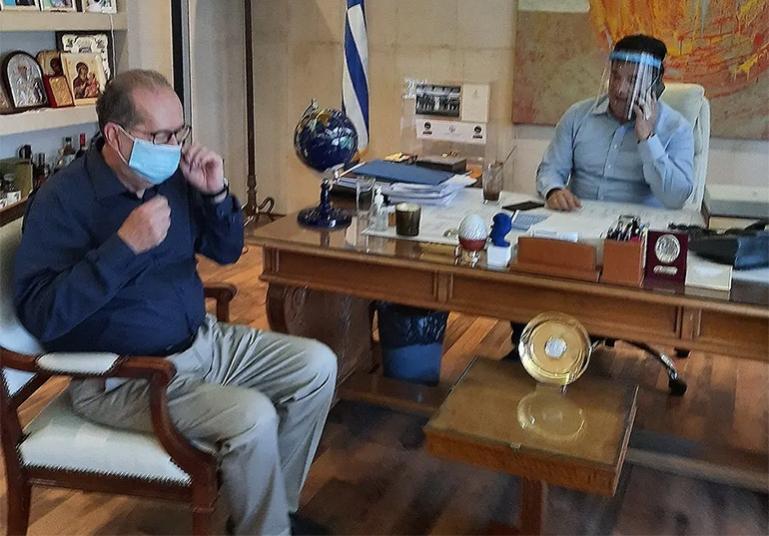 Με Άδωνη Γεωργιάδη συναντήθηκε ο περιφερειάρχης Π. Νίκας για Φυσικό αέριο, ΕΣΠΑ και ΠΔΕ