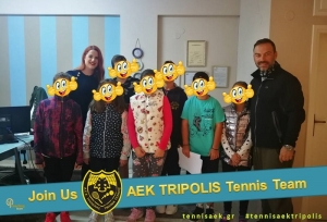 Εξετάσεις λιπομέτρησης & ανάλυσης σύστασης σώματος απο την κα. Μπιλίση για την αγωνιστική ομάδα του ομίλου τένις της ΑΕΚ ΤΡΙΠΟΛΗΣ