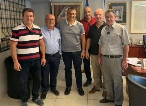 Συνάντηση του Δημάρχου Τρίπολης Κώστα Τζιούμη μετον πρόεδρο και τα μέλη του ΔΣ της ΟΕΒΑ.