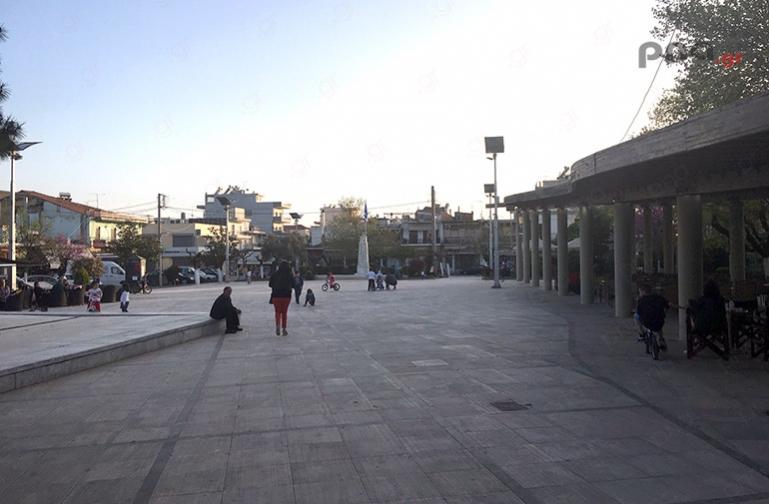 Διαγνωστικά τεστ για Covid-19 στην κεντρική πλατεία Μεγαλόπολης