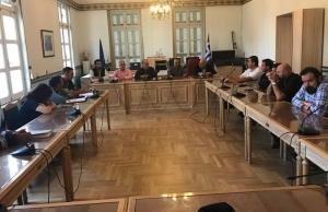 Συνάντηση του Περιφερειάρχη Πελοποννήσου με σωματεία εργαζομένων της ΔΕΗ Μεγαλόπολης