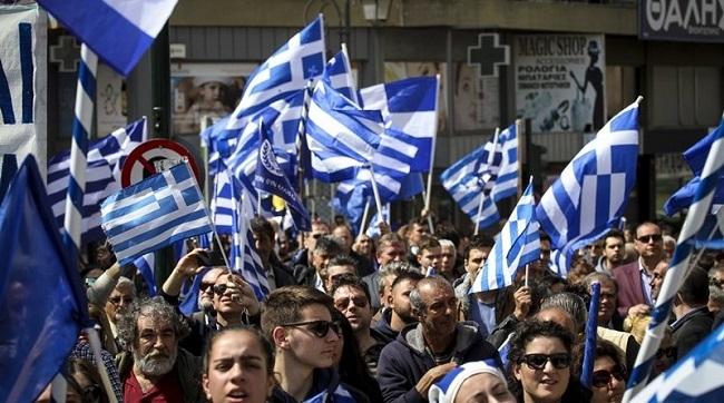 Φωτογραφίες: «Η Μακεδονία είναι ελληνική» φώναξαν και στον Πύργο Ηλείας