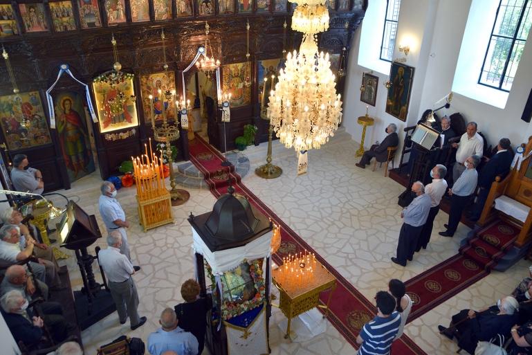 Μεθύδριο   Με λαμπρότητα η Θεία Λειτουργία στον ανακαινισμένο Ιερό Ναό Αγίου Παντελεήμονα