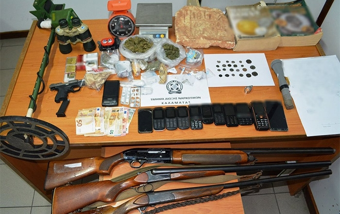Εξαρθρώθηκε εγκληματική οργάνωση που διακινούσε ναρκωτικά σε περιοχές της Πελοποννήσου