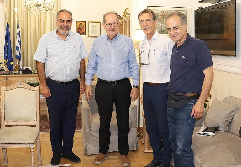 Συνάντηση του περιφερειάρχη με στελέχη της ΔΕΘ – Helexpo Α.Ε.