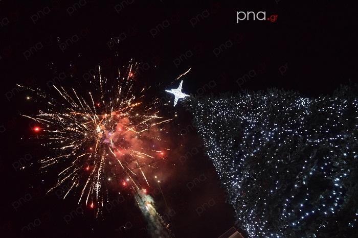Μια μεγάλη γιορτή στο άναμμα του Χριστουγεννιάτικου δέντρου στην Τρίπολη (video - pics)