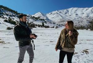 Βόλτα στα χιονισμένα Τρίκαλα Κορινθίας! (video)