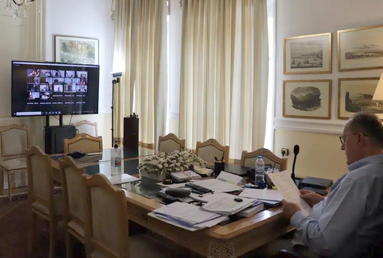Σε συνεδρίαση του Δ.Σ. της ΕΝΠΕ ο περιφερειάρχης Πελοποννήσου Παναγιώτης Νίκας