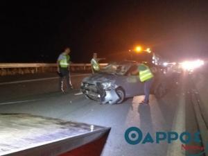 Αυτοκινητόδρομος Τρίπολης Καλαμάτας: Τρεις τραυματίες σε τροχαίο ατύχημα
