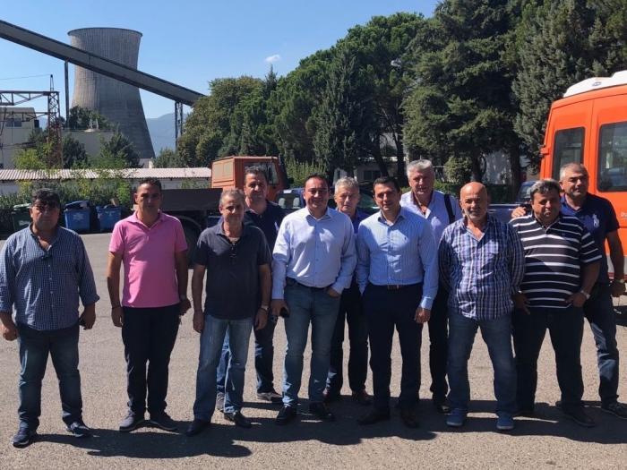 Επίσκεψη Βλάση – Σκρέκα στο εργοστάσιο της ΔΕΗ στη Μεγαλόπολη (pics)