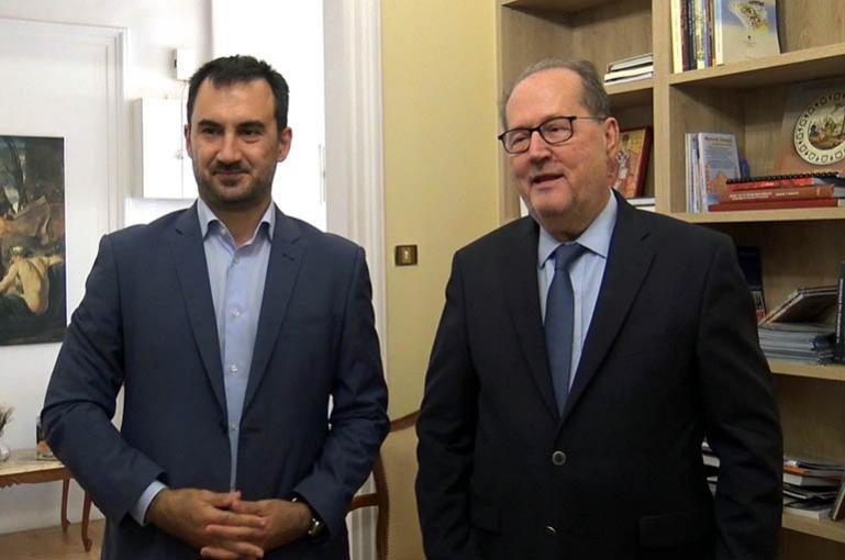 Τρίπολη | Επίσκεψη του Αλέξη Χαρίτση στον Περιφερειάρχη Πελοποννήσου κ. Παναγιώτη Νίκα