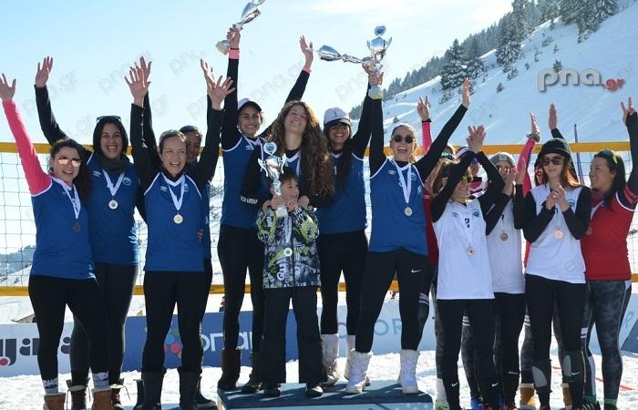 Ολοκληρώθηκε το δεύτερο Πανελλήνιο πρωτάθλημα snow volley στο Μαίναλο (video - pics)