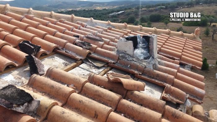 Κεραυνός χτύπησε σπίτι στο Δήμο Ερμιονίδας στην Αργολίδα