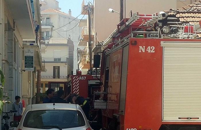 Φωτιά σε διαμέρισμα στην Τρίπολη