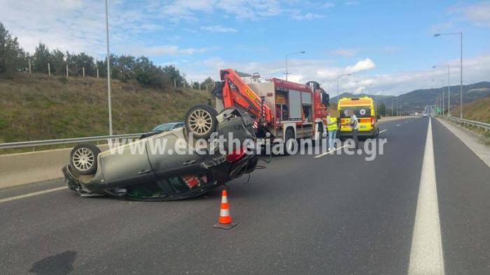 Τροχαίο με 3 τραυματίες στον αυτοκινητόδρομο έξω από τη Μεγαλόπολη (video - pics)
