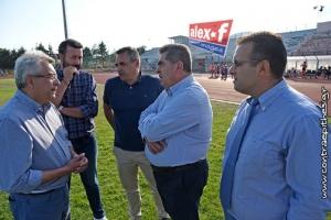 Συζητήσεις ανθρώπων της ΑΕΚ Τρίπολης και του Δήμου για το γήπεδο του ΔΑΚ Τρίπολης