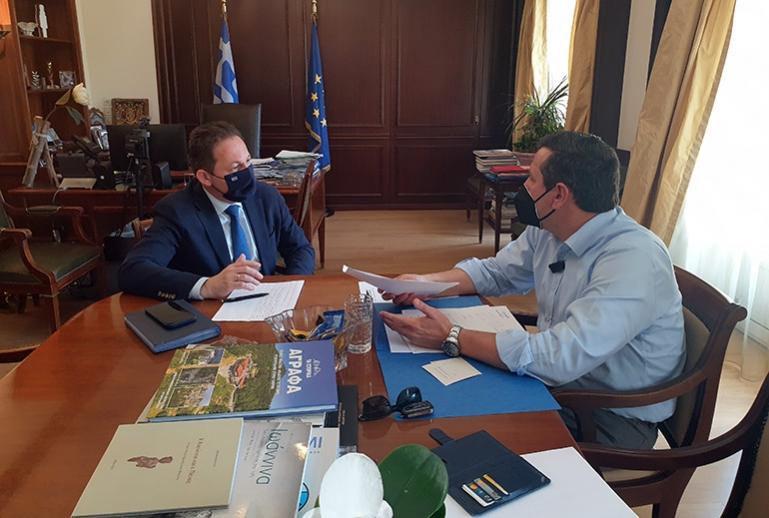 Συνάντηση Δημάρχου Βόρειας Κυνουρίας κ. Γιώργου Καμπύλη με τον Αναπληρωτή Υπουργό Εσωτερικών κ. Στέλιο Πέτσα