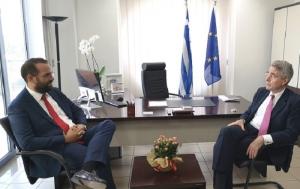 Συνάντηση Νεκτάριου Φαρμάκη με τον Αμερικανό Πρέσβη Τζέφρι Πάιατ (video)