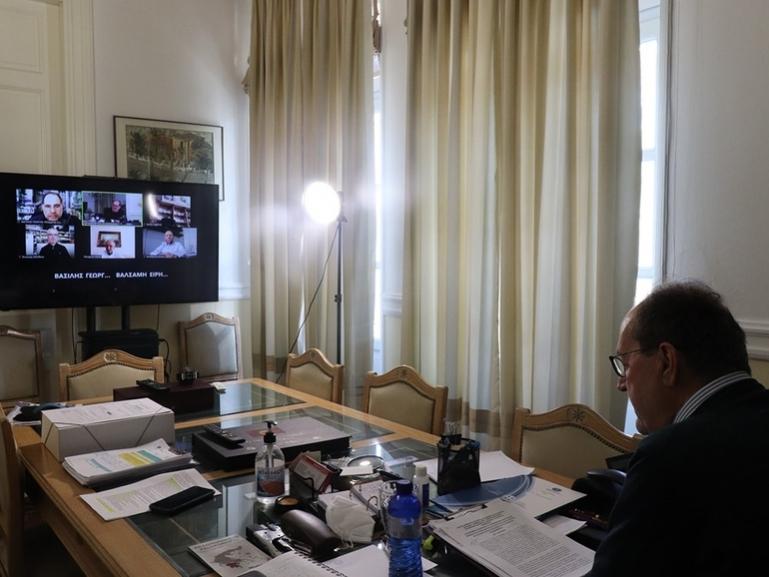 Τηλεδιάσκεψη του Περιφερειάρχη με την Ομοσπονδία Εμπορίου και Επιχειρηματικότητας Πελοποννήσου