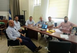 Συνάντηση του Δημάρχου Βόρειας Κυνουρίας με τους αντιπεριφερειάρχες κ. Λαμπρόπουλο - κ. Τσουκαλά