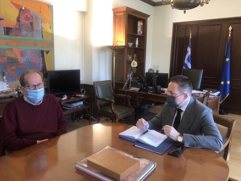 """Π. Νίκας στη συνάντηση με τον Σ. Πέτσα:  """"επιβάλλεται να προχωρήσουν ταχύτατα οι μεταρρυθμίσεις στην αυτοδιοίκηση"""""""