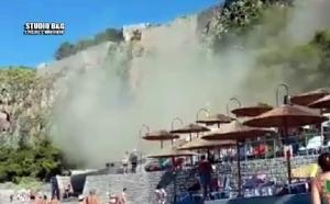Η στιγμή της κατολίσθησης στο γύρο της Αρβανιτιάς στο Ναύπλιο (video)