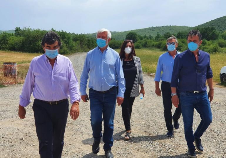 Επίσκεψη του Πέτρου Τατούλη στο χώρο της κατασκευής της μονάδας διαχείρισης των απορριμμάτων στην Παλαιόχουνη