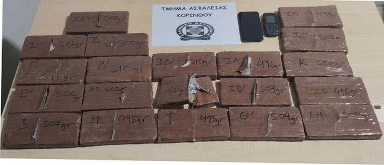 Συνελήφθη 54χρονος με 10 κιλά ηρωίνη στην Κορινθία