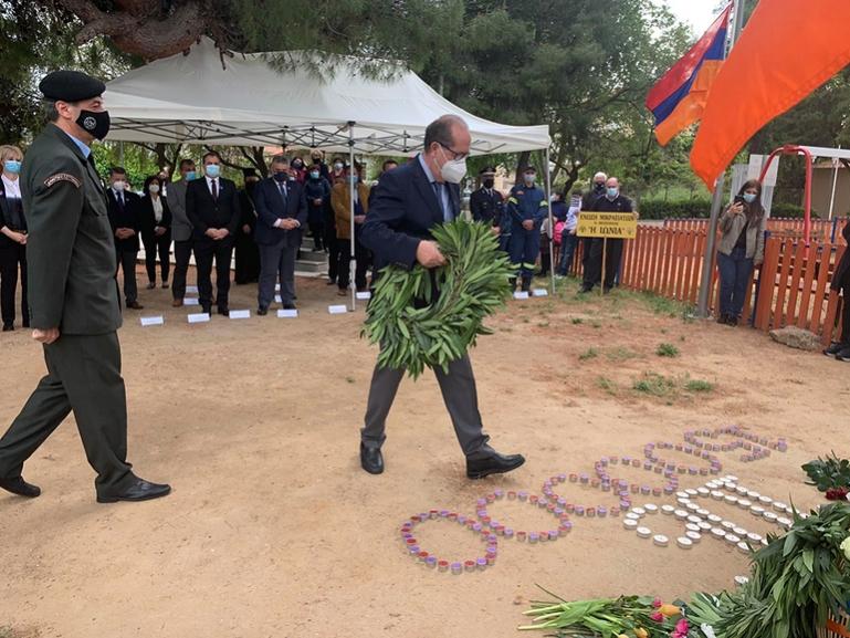 """Π. Νίκας στην εκδήλωση για τη γενοκτονία των Αρμενίων, """"μας ενώνει το άδικο αίμα"""""""