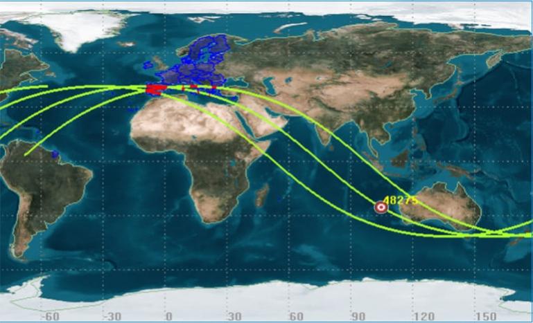 Ο Σύλλογος Αστροφυσικής Ασέας ενημερώνει για την πορεία του Κινέζικου Πυραύλου