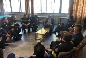 Την Πυροσβεστική υπηρεσία στην Τρίπολη επισκέφθηκε ο Υφυπουργός Εξωτερικών κ. Κώστας Βλάσης