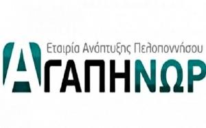 Ανοικτό το Μητρώο της Εταιρείας Ανάπτυξης Πελοποννήσου «ΑΓΑΠΗΝΩ» για εγγραφές