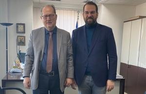Συνάντηση του Ν. Φαρμάκη με τον Περιφερειάρχη Πελοποννήσου. Π. Νίκα