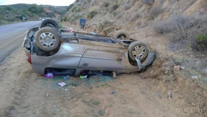 Τροχαίο ατύχημα με ανατροπή στην εθνική Κορίνθου Τριπόλεως