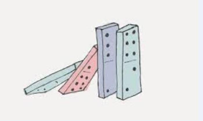 """Το φαινόμενο ντόμινο - """"domino effect'"""