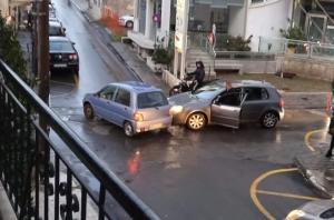 Τροχαίο στην οδό Δημητρακόπουλο στην Τρίπολη