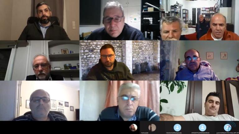 Τηλεδιάσκεψη για το θέμα εγκατάστασης ανεμογενητριών στην περιοχή Βαλτεσινίκου
