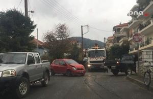 Τροχαίο ατύχημα στην οδό Καραΐσκάκη στην Τρίπολη