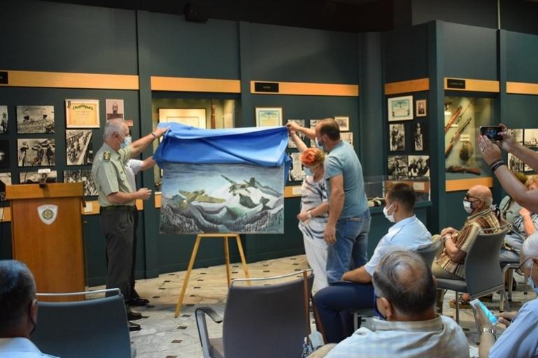 Πολεμικό Μουσείο Τρίπολης | Πίνακας με το ηρωικό κατόρθωμα του Γρηγόρη Βαλκανά