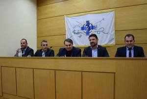 Συνάντηση του γ.γ. Πολιτικής Προστασίας Νίκου Χαρδαλιά με τους δημάρχους της Πελοποννήσου (video - pics)