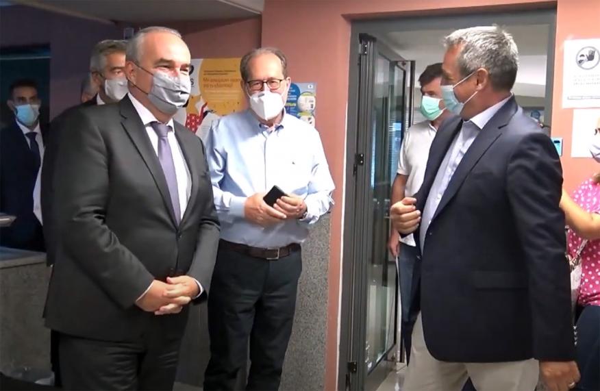 Συνάντηση Τζιούμη - Νίκα - Παπαθανάση στην Τρίπολη (vid)