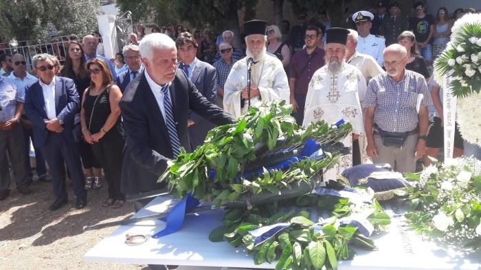 Ο περιφερειάρχης Πελοποννήσου στην τελετή επιστροφής και ταφής των οστών του Πλωτάρχη Νικολάου Πανάγου (pics)