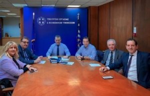 Συνάντηση του Προεδρείου του Π.Ι.Σ. με τον Υπουργό Εργασίας, για τις αλλαγές στο ασφαλιστικό σύστημα
