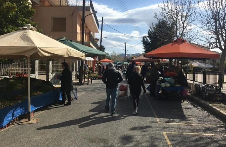 Λαϊκή αγορά της πλατείας Μαντινείας20/1/2021 ημέρα Τετάρτη