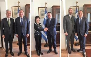 Συναντήσεις Υφυπουργού Εξωτερικών, Κωνσταντίνου Βλάση, με τους Πρέσβεις της Κίνας, της Γερμανίας και της Αυστραλίας