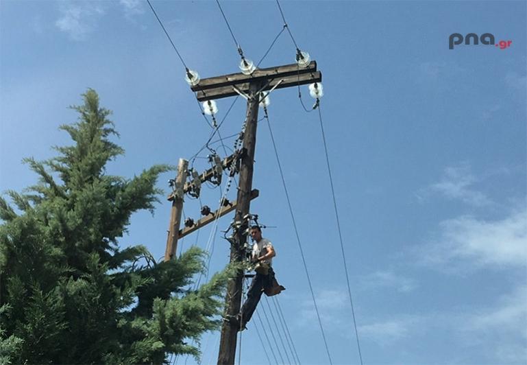 Διακοπή ηλεκτροδότησης στην Γορτυνία